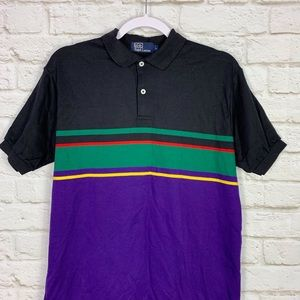 Polo by Ralph Lauren Shirts - Polo Ralph Lauren Colorblock Striped Polo Shirt L